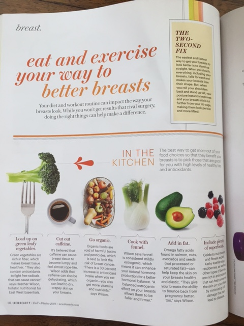 Better breasts New Beauty Magazine featuring Heather Wilson