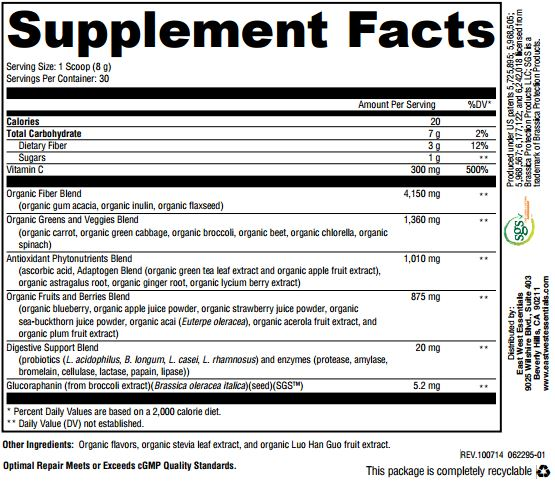 Optimal Nutrition ingredients